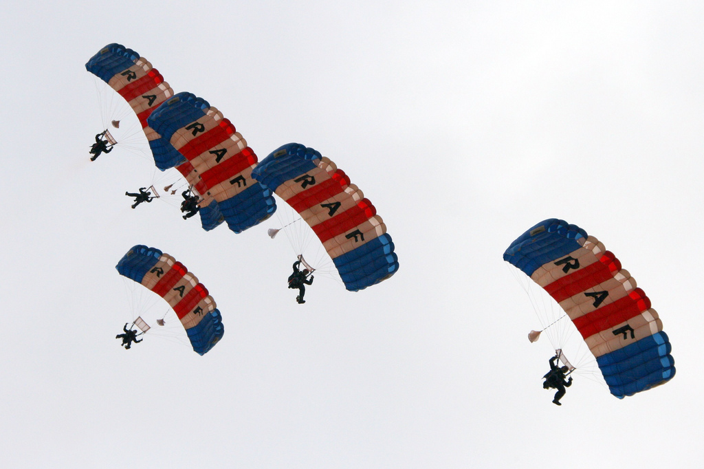 A summary of parachute types Wikimedia image by Comedy_nose