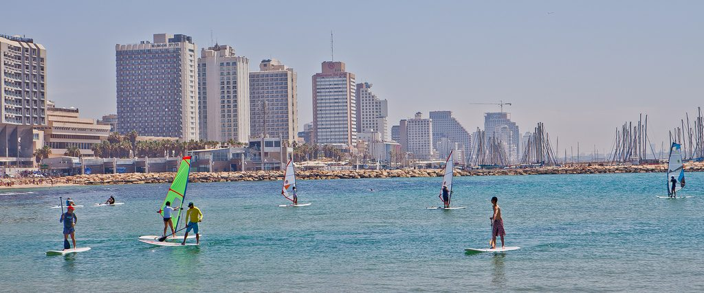 windsurfing in Tel Aviv one of the best Middle East overland adventures Flickr image by Israel_photo_gallery
