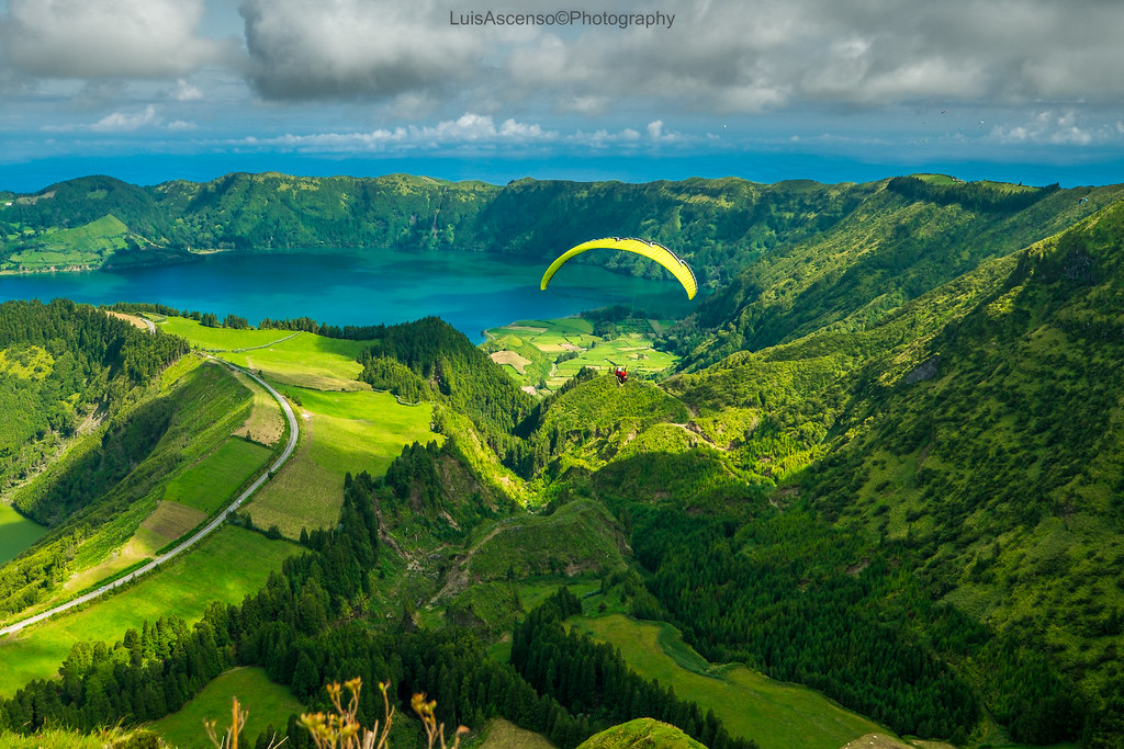Azores one of the best portuguese paragliding destinations Flickr CC 2.0 image by Luis Ascenso