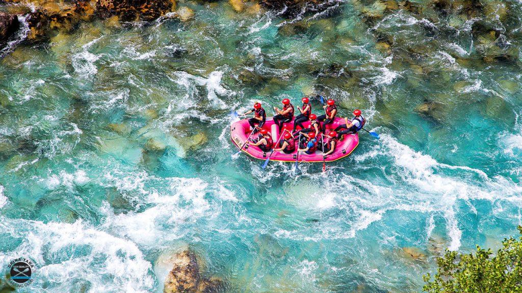 Guide to Europe rating holidays Tara Canyon whitewater rafting in Bosnia Image courtesy of Drina-Tara Rafting Centre