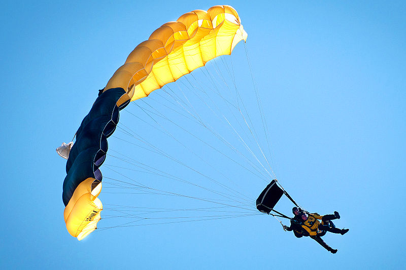 UK tandem skydivelocations Wikimedia image by Sgt. Michael J. MacLeod