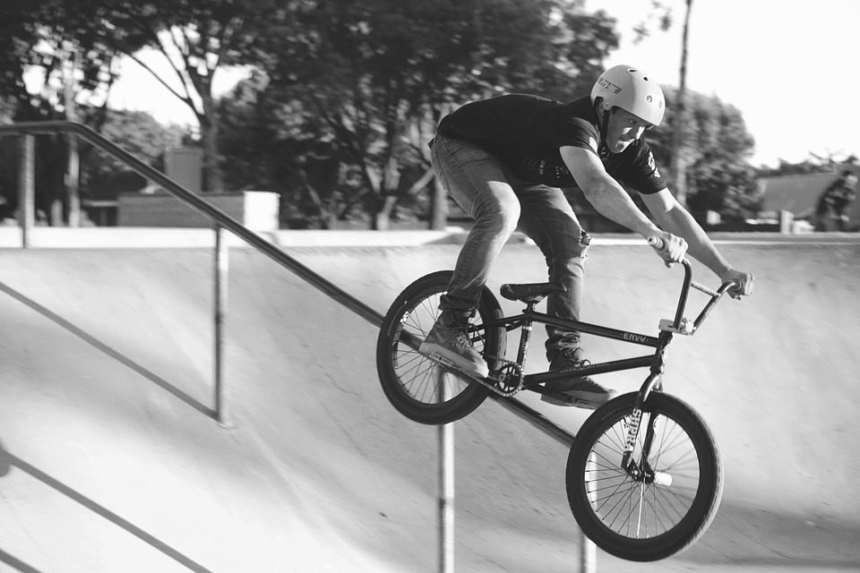 BMX one of many adventure sports in California Pixabay royalty free image