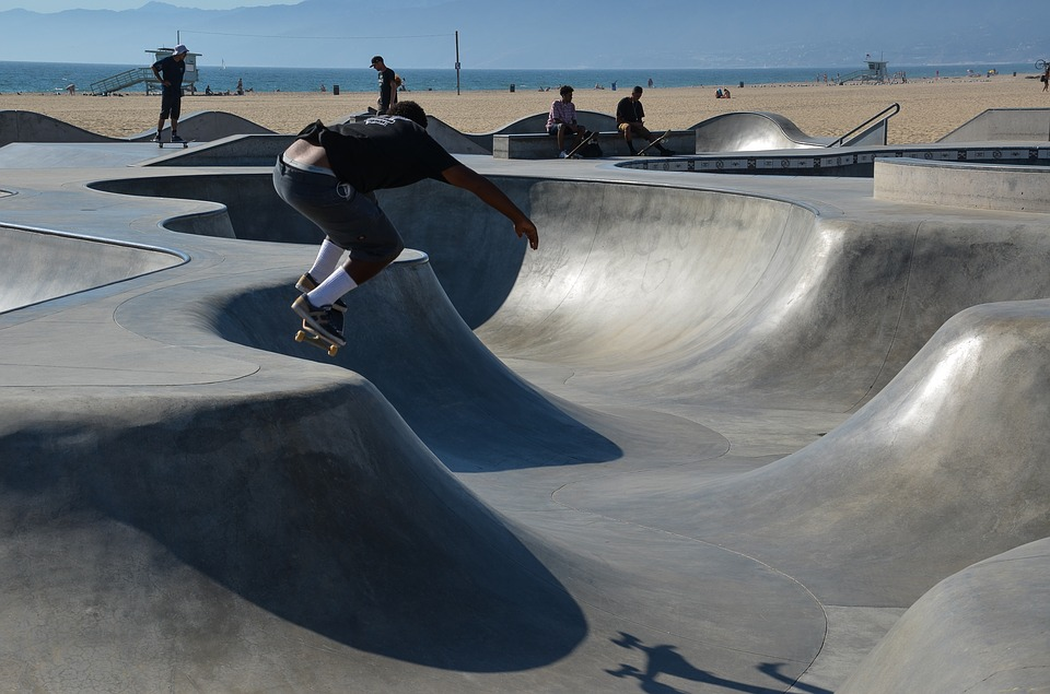 Is Cali the home of extreme sports Skateboarding venice beach Pixabay royalty free image