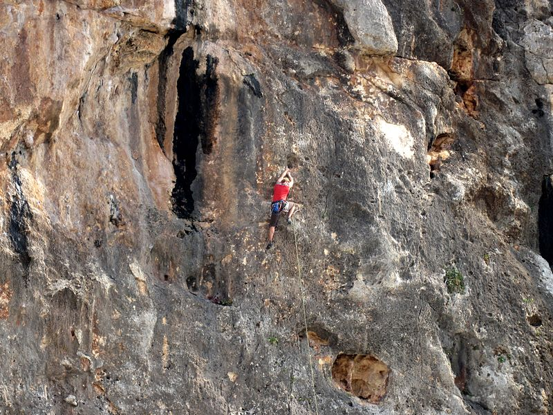 Majorca rock climbing holidays Wikimedia CC image of Cala Magraner in Mallorca by Olaf Tausch