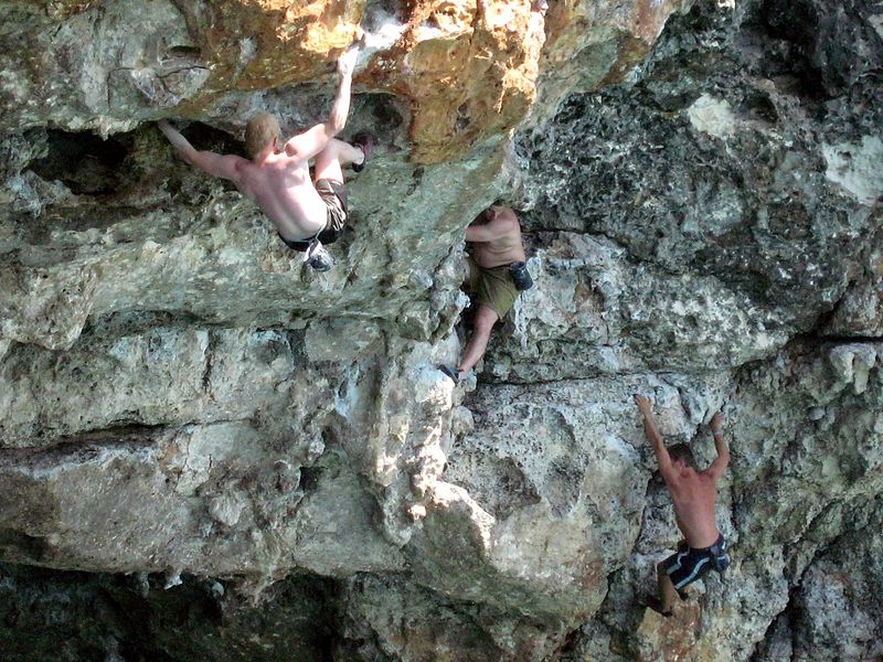 Majorca rock climbing holidays Wikimedia CC image of Cala Varques in Mallorca by Olaf Tausch