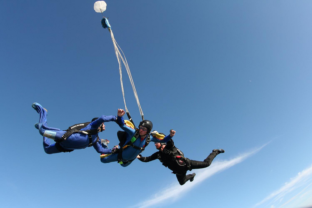 Skydiving glossary of terms flickr image by Wales Gibbons