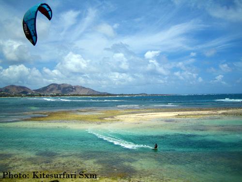 Best Caribbean water sport holiday destinations: St Martin kitesurfing image by kitesurfari sxm