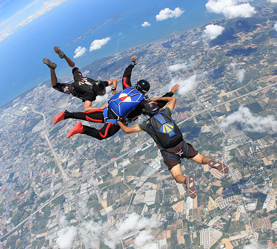 Skydiving in Pattaya one of the best Thai adventure holidays image courtesy of Thai Sky Adventures
