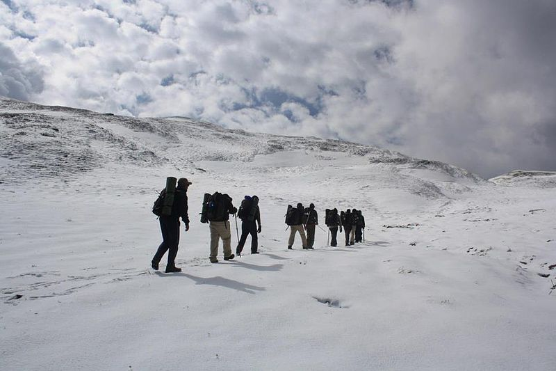 High altitude trekking holidays wikimedia image by Djds4rce