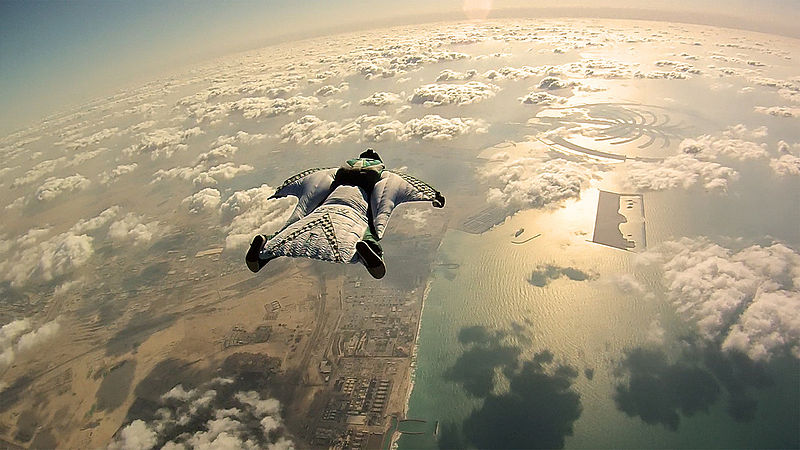 Types of skydiving Wikimedia image by Richard Schneider