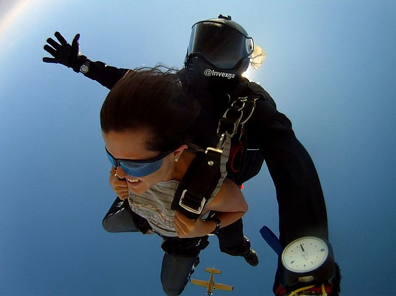 Types of skydiving Wikimedia image by Skydive Laguna