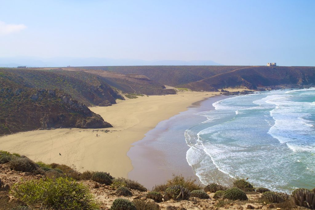 Guide to Morocco surfing holidays: 10 best Moroccan surf spots mirleft beach by Surf Berbere