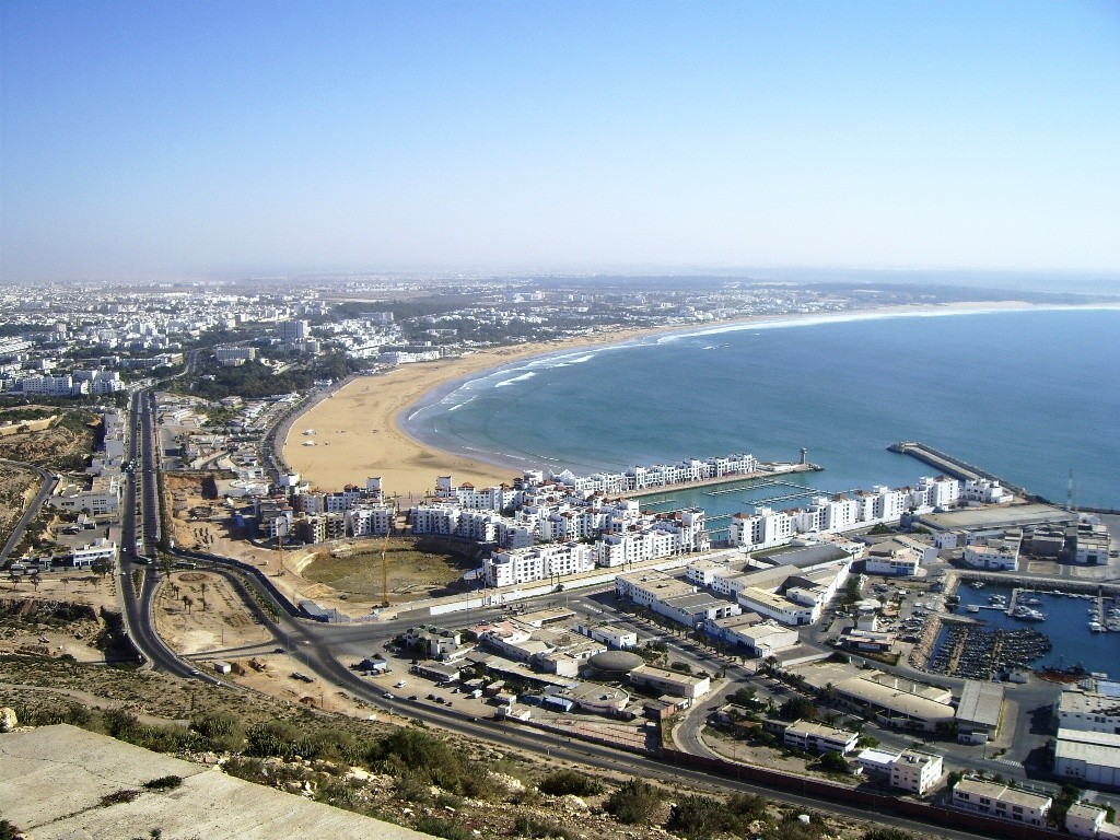Agadir one of the best Morocco windsurfing destinationsWikimedia Commons image by Juchi