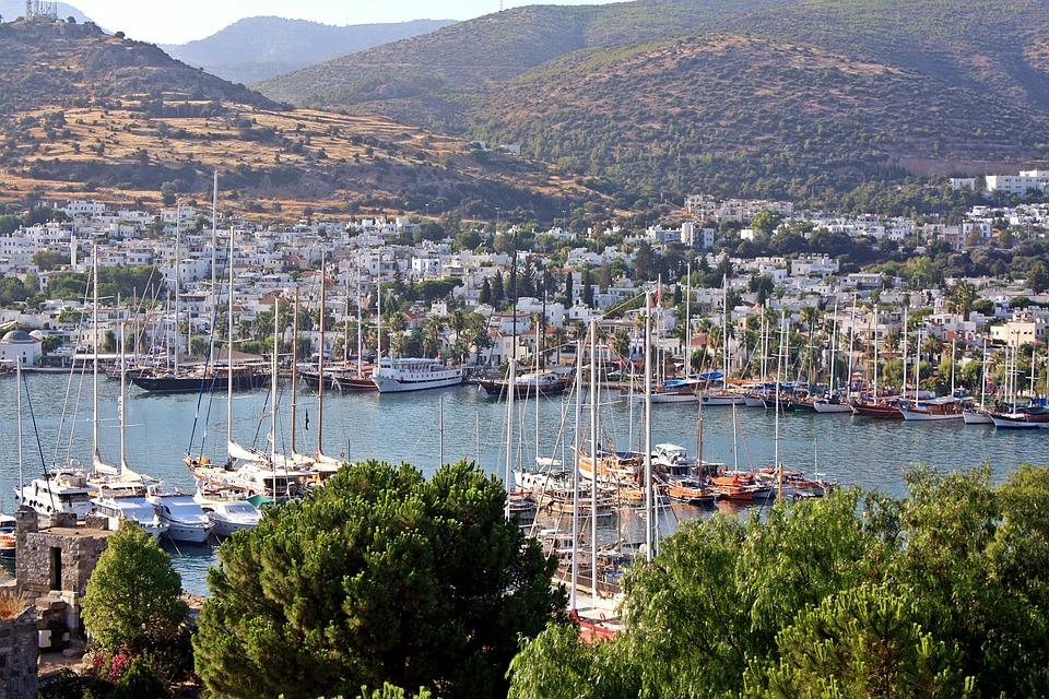 Marina in Bodrum for Turkey sailing holiday Pixabay royalty free image