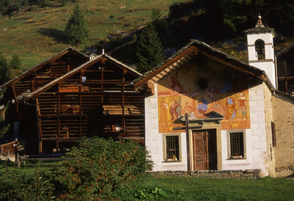 Wasler building Alagna ski holidays