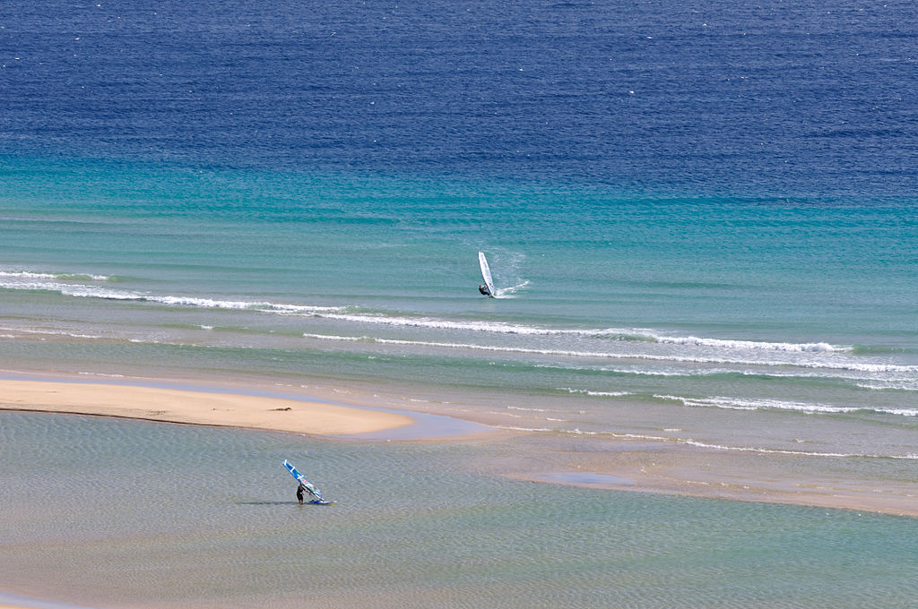 Canary Islands Windsurfing Wikimedia Commons image by Hansueli Krapf