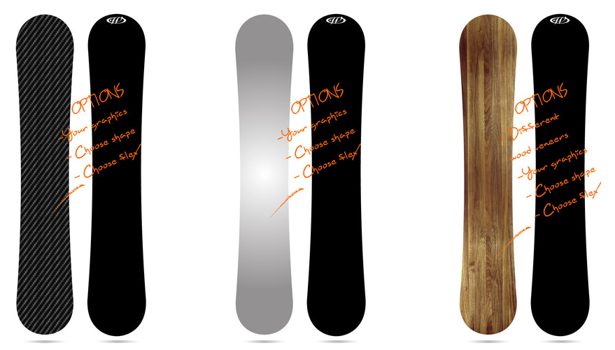Build your own snowboard image courtesy of Windlip Snowboards