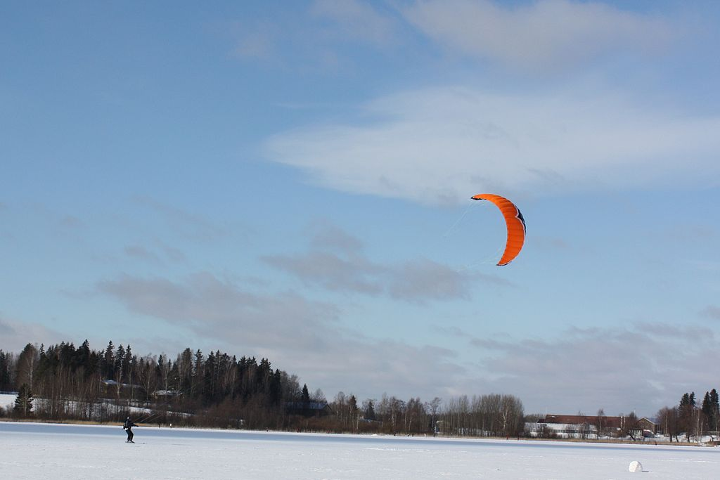 Finland Snowkiting Wikimedia Commons image by Annelis