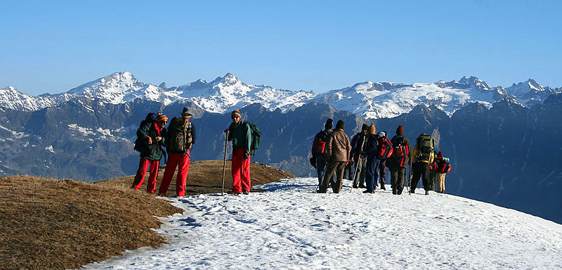 Guided trekking holidays Wikimedia image by J.M. Garg
