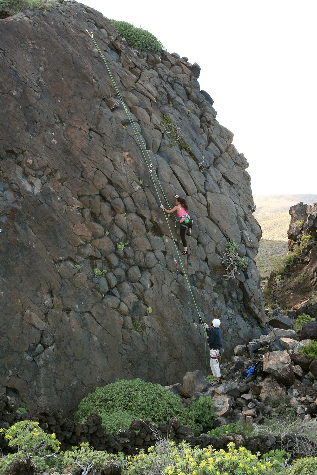 Lanzarote Rock Climbing Wikimedia Commons image by Frank Vincentz