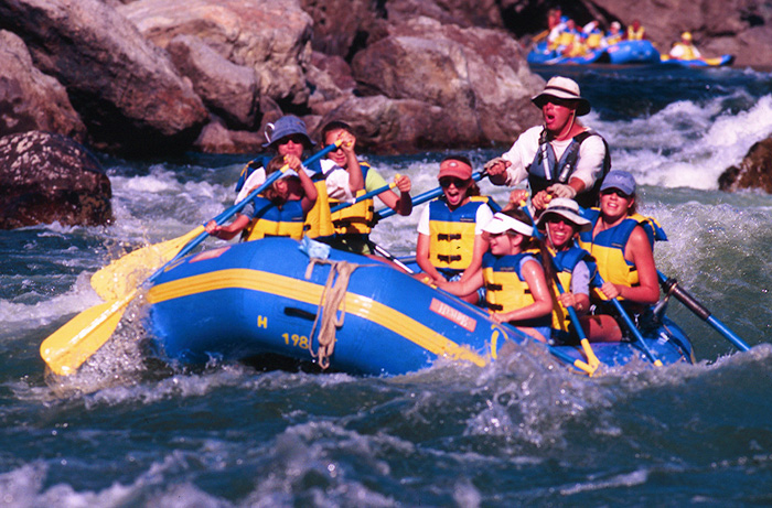 Low cost rafting holidays image courtesy of Ouzel Outfiters
