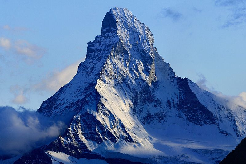 10 best rock climbing locations for the hardest climbs worldwide Wikimedia CC image of Matterhorn by Zacharie Grossen