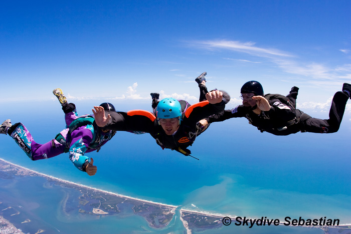 skydive worldwide with the accelerated freefall course image courtesy of Skydive Sebastian