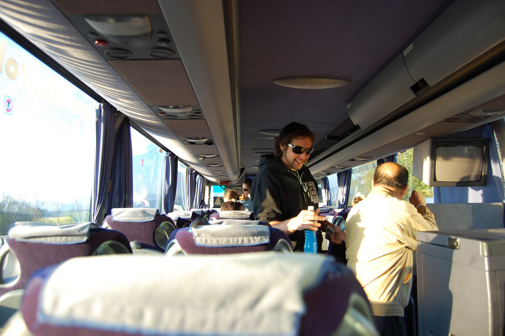 Review of Eurolines coach travel for a snowboarding holiday Flickr image by Cha già José