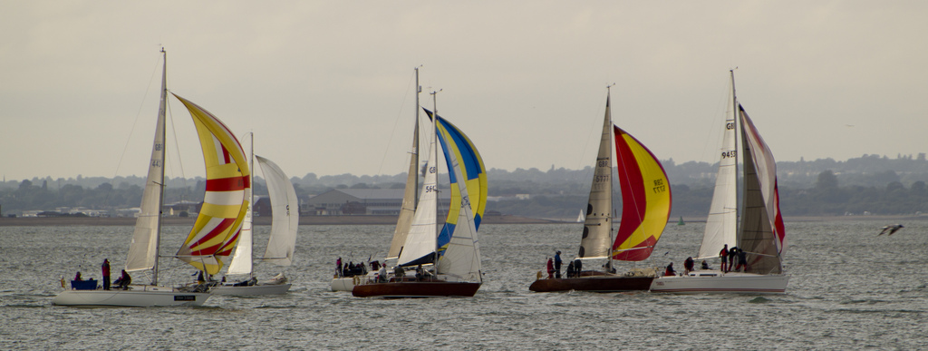 Best Isle of Wight adventures: Top 25 IOW activity holiday ideas Flickr image sailing IOW by barryskeates