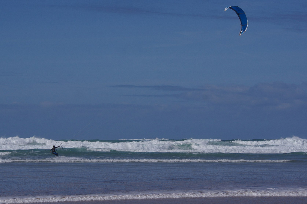 Best Cornwall kite beaches Perranporth flickr image by Dave Hamster