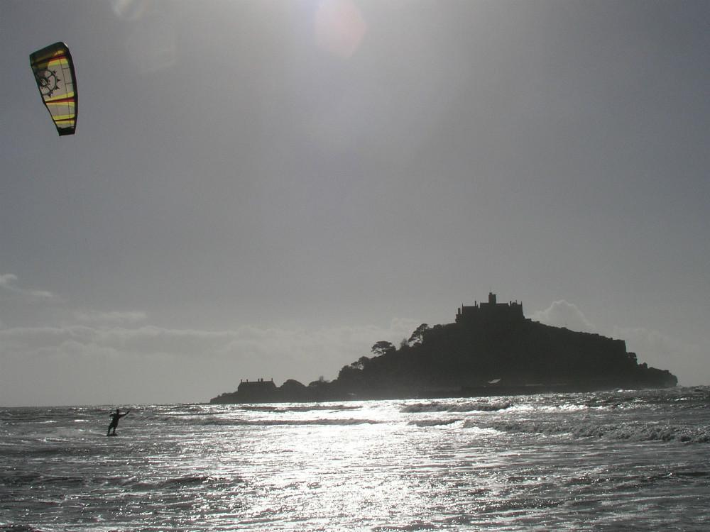 Marazion one of the best Cornwall kite beaches
