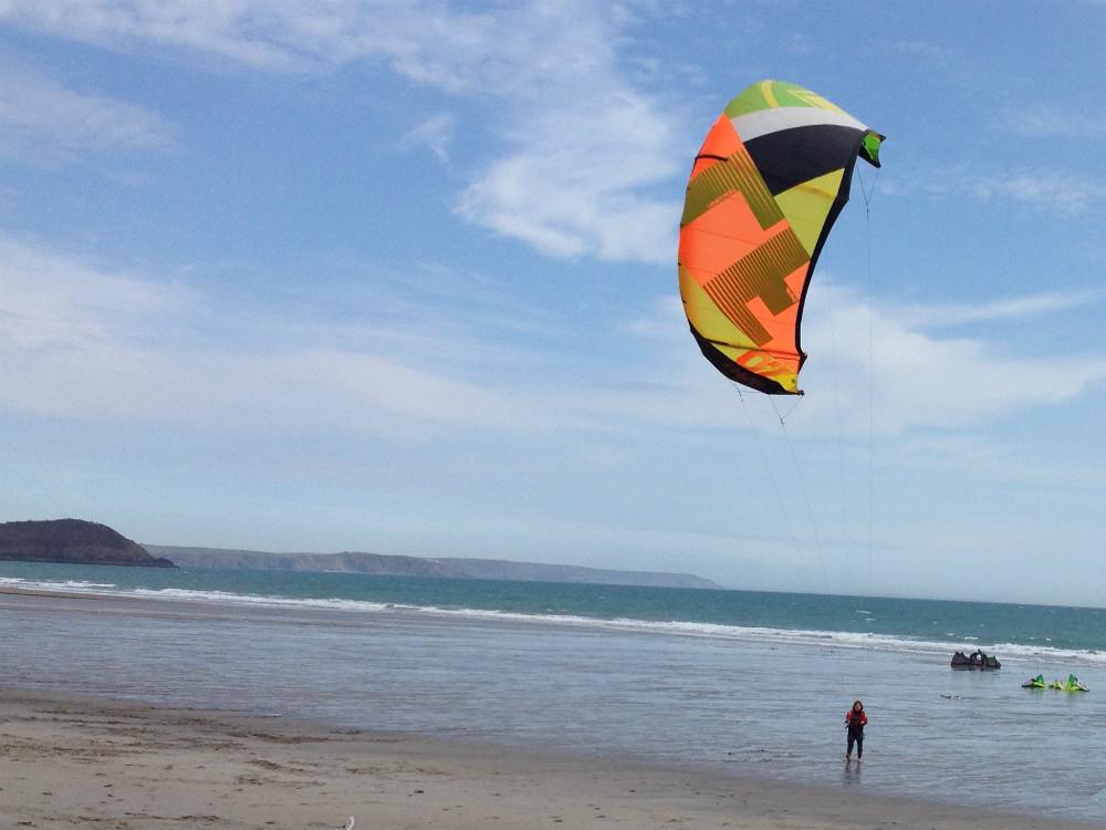 Pentewen one of the best Cornwall kite beaches