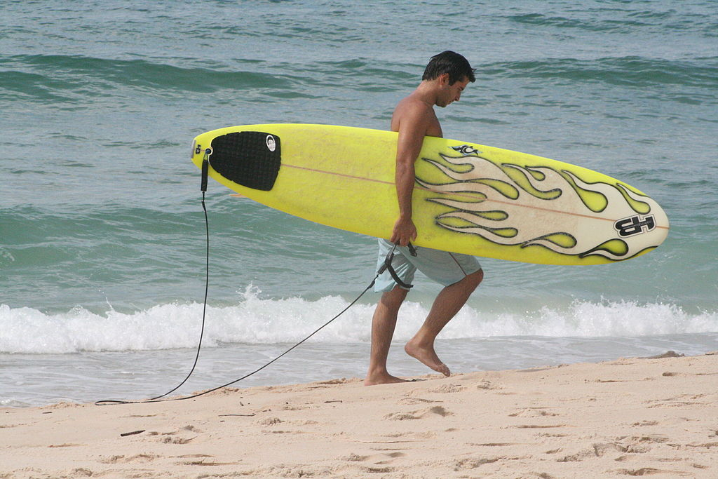 Begginner surf lessons wikimedia image by Johntex