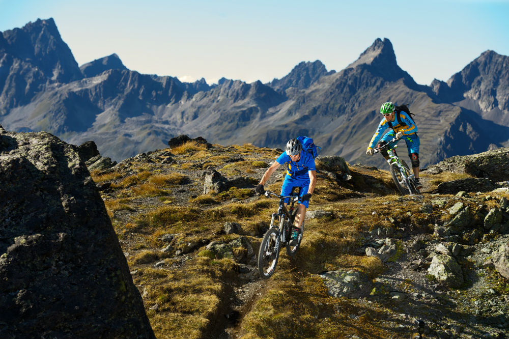 Mountain biking in Ischgl. Copyright Tourism Paznaun-Ischgl