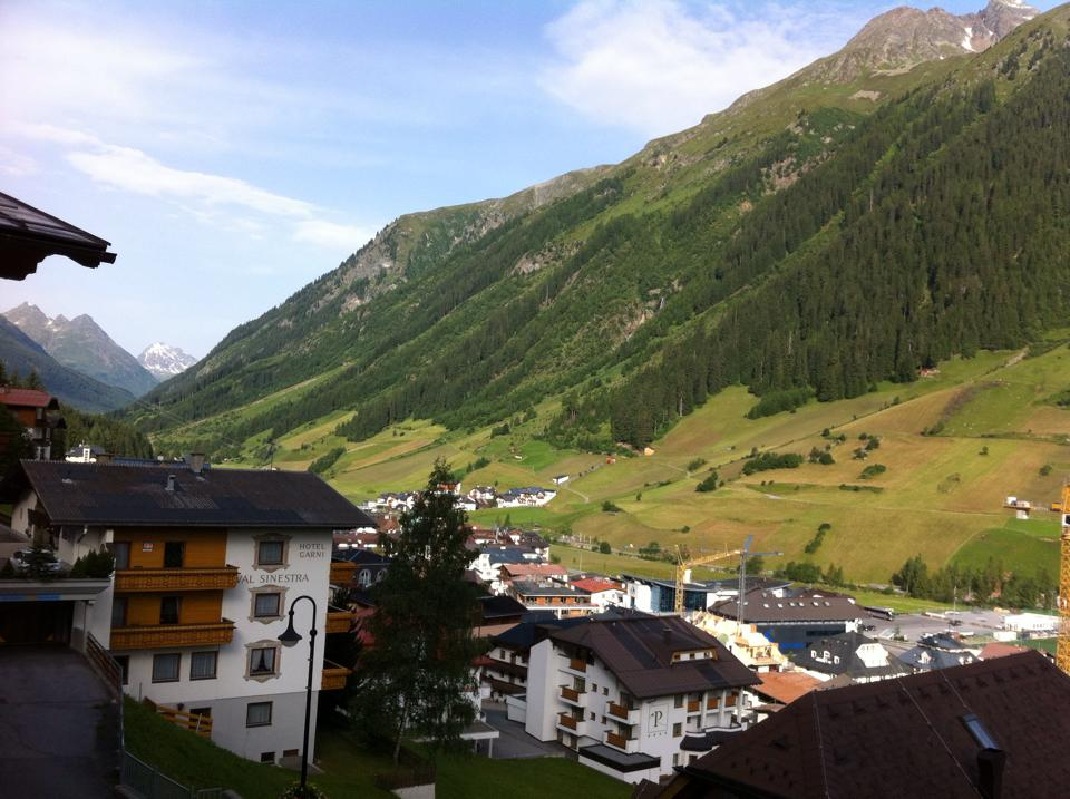 View from my balcony in Hotel Alpvita Piz Tasna Ischgl