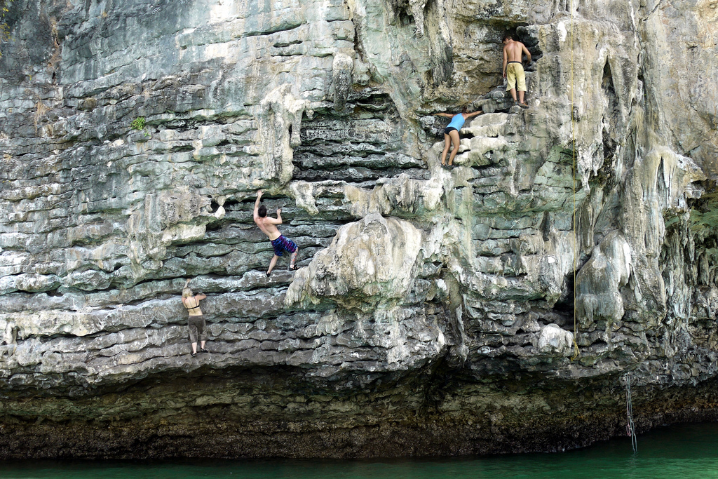Top five spots for rock climbing holidays in Thailand flickr image by Jodie McIntyre