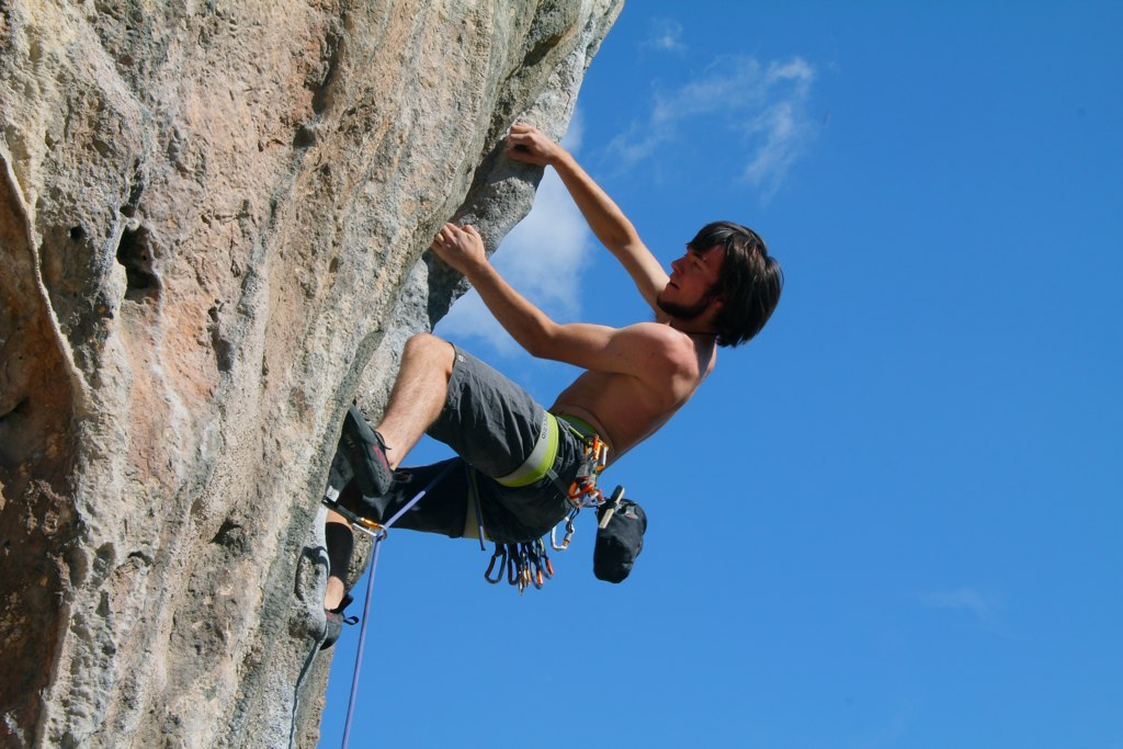 Improve rock climbing strength and fitness in the gym flickr image by Adam Kubalica
