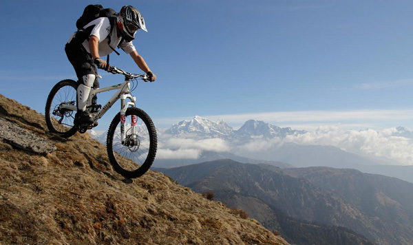 Nepal mountain biking holidays. Image Copyright ©AdventureX