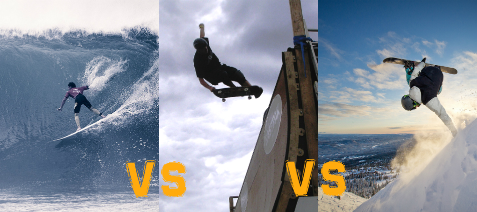 surfing vs skateboarding vs snowboarding flickr images by SayLuiiiis Edward Simpson and Trysil