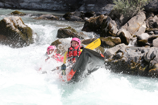 white water rafting on the durance with Undiscovered Alps