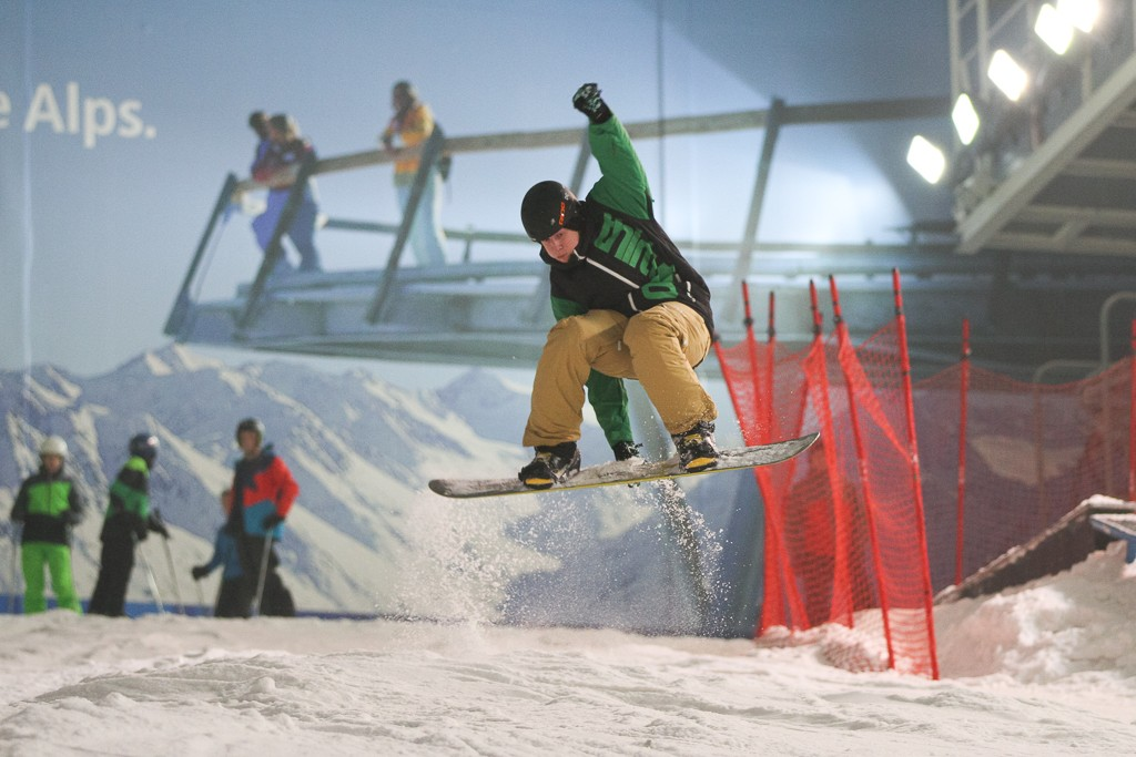 snowboard at Snowdome Hemel Hempstead one of the best activities in London for adventure image by James Kirby