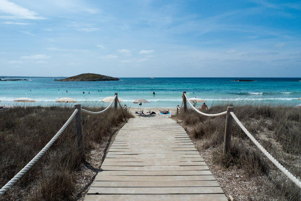 Skydiving Ibiza? No chance go to the beach instead Flickr image by David Sim