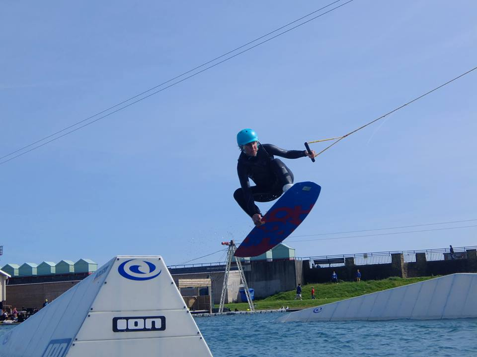 Lagoon Watersports wakeboarding lesson in Hove lagoon Brighton one of the top destinations for European wakeboarding holidays