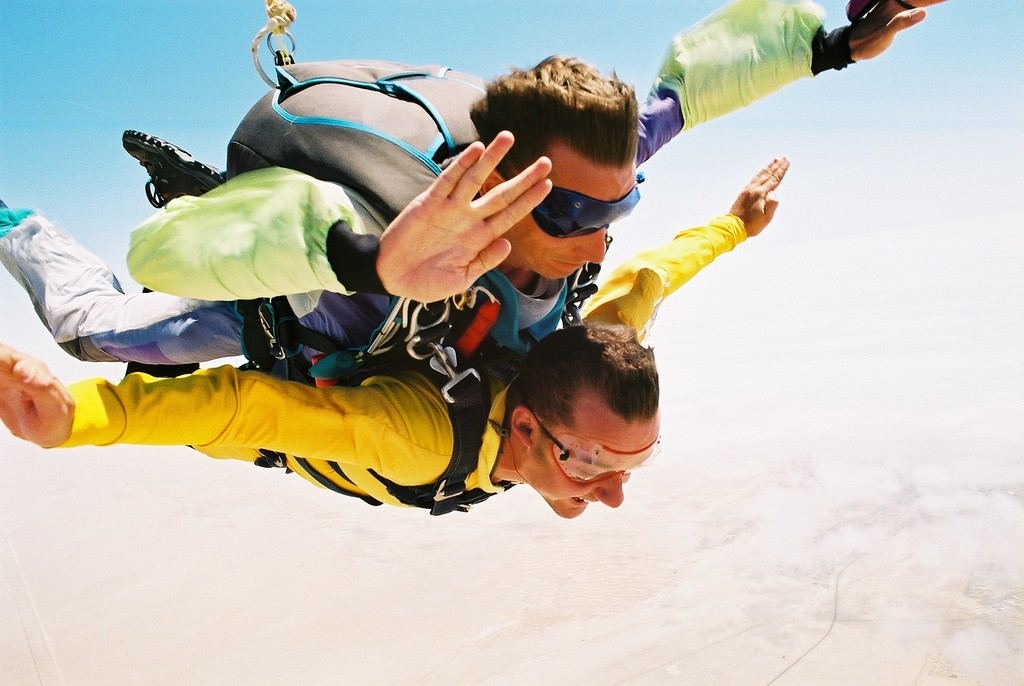 Namibia one o the 10 of the World's best skydiving holiday destinations Flickr image by Mark Hills