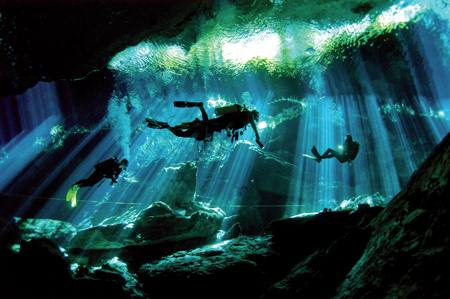 scuba diving the Cenotes of Mexico one of the best Festive activity breaks Flickr image by dMap Travel Guide