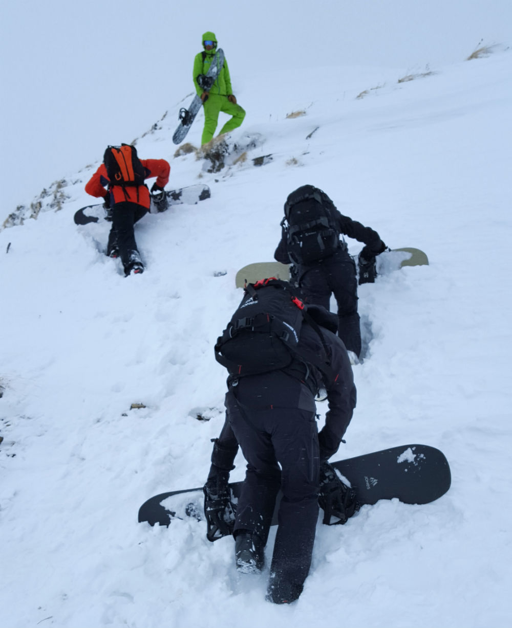 Review of Mint Snowboarding backcountry camp climb