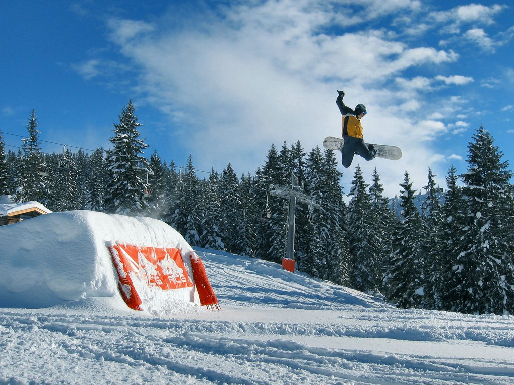 Austrian shred in Westendorf one of the 16 best Austria snowboarding holiday destinations Flickr CC image by solarthermienator