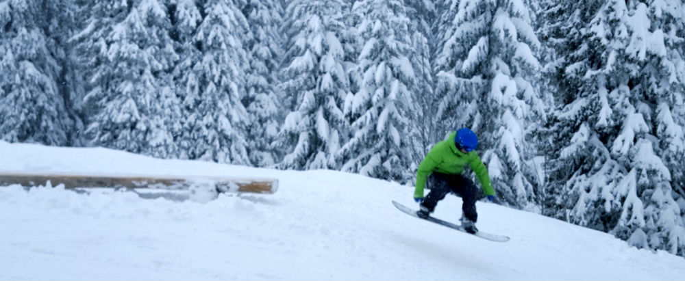 The Stash during weekend snowboarding in Morzine