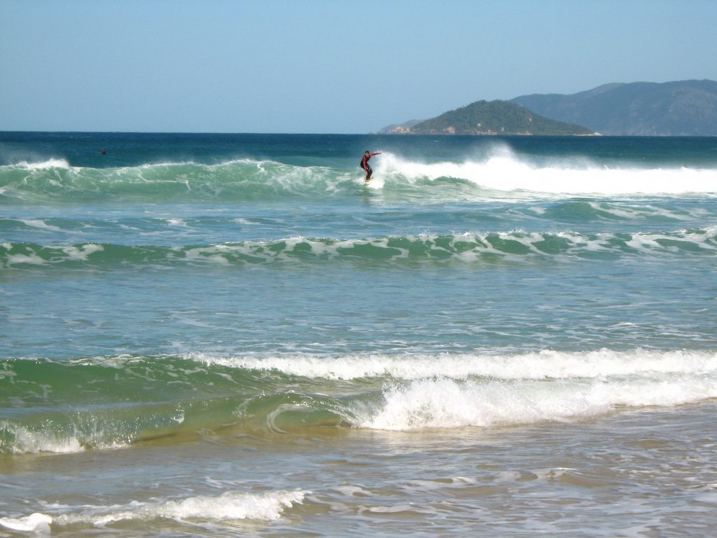 Brazil surfing holidays. Joaquina Beach one of the 12 best Brazilian surf breaks Flickr image by Hector Garcia
