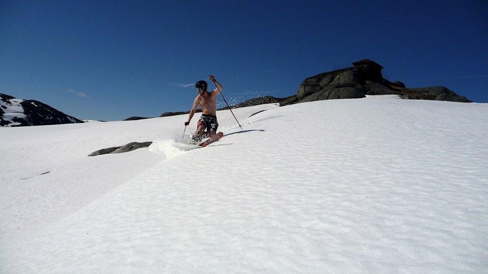 Summer skiing in Europe at Riksgransen Sweden Image courtesy of Riksgränsen